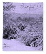 Peaceful Holidays To You Fleece Blanket