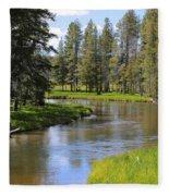 Peaceful Mountain Stream Fleece Blanket