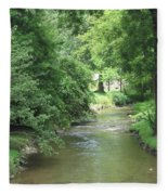 Peaceful Mountain Stream Fleece Blanket