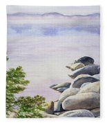 Peaceful Place Morning At The Lake Fleece Blanket