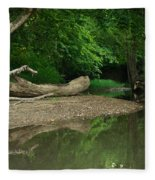 Peaceful Stream Fleece Blanket