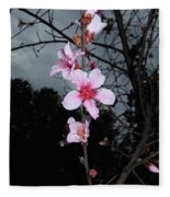Peach Blooms Fleece Blanket