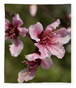 Peach Blossom Clusters Fleece Blanket