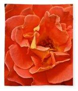 Peach Petals Fleece Blanket
