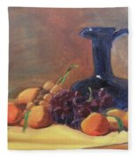 Peaches And Blue Pitcher Fleece Blanket