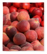 Peaches And Nectarines Fleece Blanket
