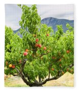 Peaches On Tree Fleece Blanket