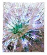 Peacock Dandelion - Macro Photography Fleece Blanket