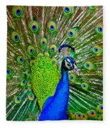 Peacock Display Fleece Blanket
