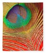 Peacock Feather 2 Fleece Blanket