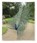 Peacock Glory Fleece Blanket
