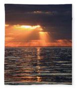 Peaking Through The Clouds Fleece Blanket