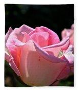 Pearl Pink Petals Fleece Blanket