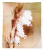 Pearls In The Wind Fleece Blanket
