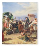 Peasants Of The Campagna Fleece Blanket