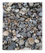 Pebble Beach Rocks, Maine Fleece Blanket