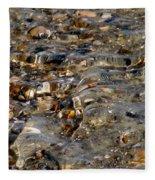 Pebbles And Shells By The Sea Shore Fleece Blanket