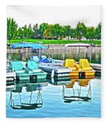 Pedal Boats Fleece Blanket
