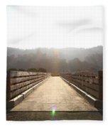 Pedestrian Bridge At Martinez Regional Shoreline Park In Martinez California . 7d10534 Fleece Blanket