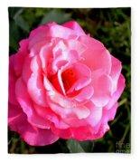 Peek-a-boo Rose Square Fleece Blanket