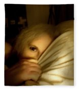 Peekaboo By Candlelight Fleece Blanket