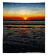 Peeking Over The Horizon Fleece Blanket