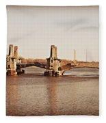 Pelham Bridge In Sepia Fleece Blanket