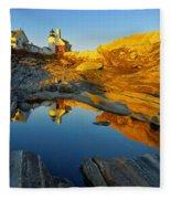 Pemaquid Point Reflection 2 Fleece Blanket