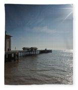 Penarth Pier Sun Fleece Blanket