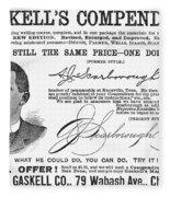 Penmanship Ad, 1887 Fleece Blanket