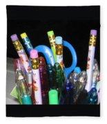 Pens And Pencils Fleece Blanket