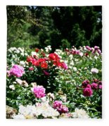 Peonies Fleece Blanket
