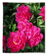 Peony Named Karl Rosenfield Fleece Blanket