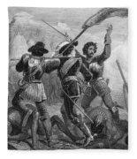 Pequot War, 1636-3 Fleece Blanket