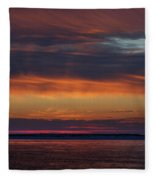 Perdido Pass Red Sunrise Fleece Blanket