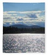 Perfect Day On The Lake Fleece Blanket