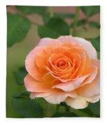 Perfect Peach Petals Fleece Blanket