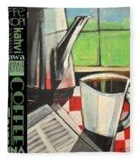 Perk Coffee Languages Poster Fleece Blanket