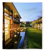 Perspective Of Contemporary Architecture Fleece Blanket