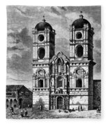 Peru: Jesuit Church, 1869 Fleece Blanket