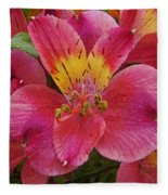 Peruvian Lilies Fleece Blanket