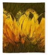 Petales De Soleil - A43t02b Fleece Blanket