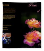 Petals Of Praise Books By Randall Branham Fleece Blanket
