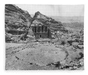 Petra, Jordan Fleece Blanket