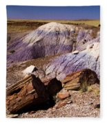 Petrified Logs In The Badlands Fleece Blanket