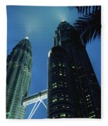 Petronas, Twin Towers At Night, Low Fleece Blanket