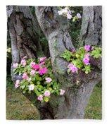 Petunia Tree Fleece Blanket