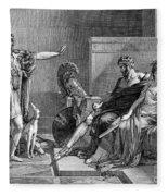 Phaedra And Hippolytus Fleece Blanket