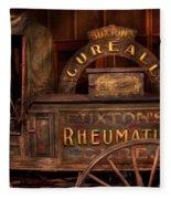 Pharmacy - The Rheumatic Cure Wagon  Fleece Blanket