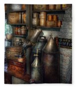 Pharmacy - Tools - August Flowers Fleece Blanket